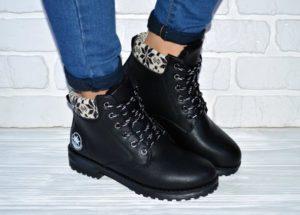 женские ботинки на зиму